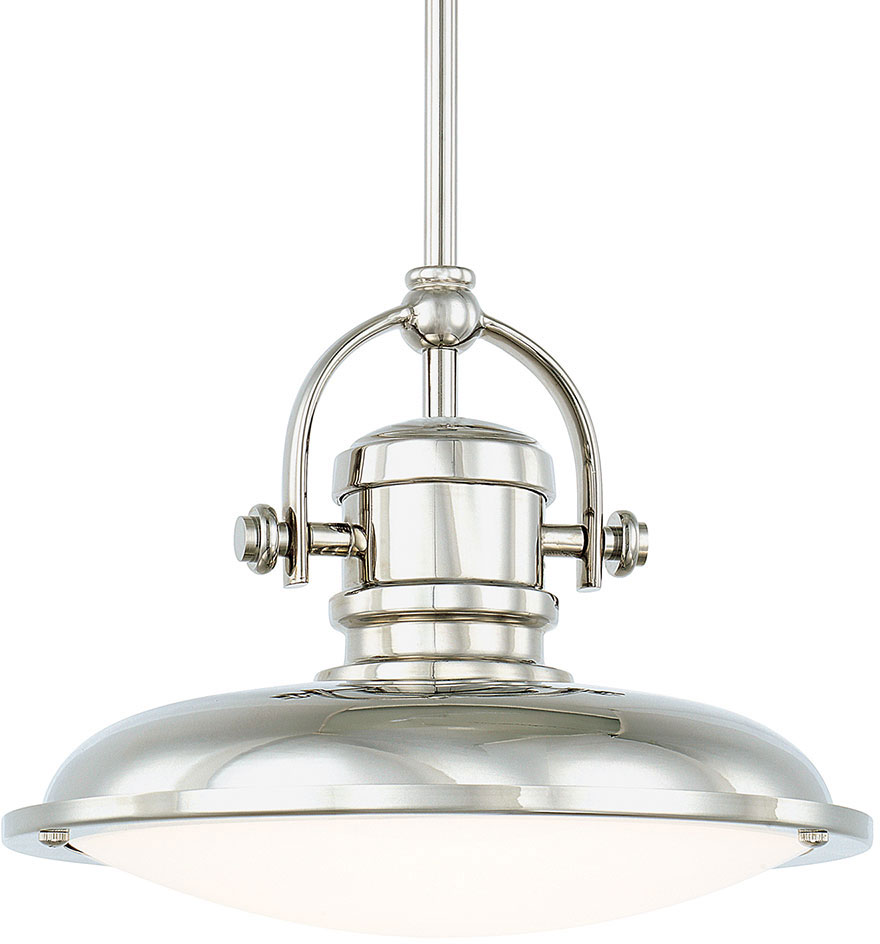 capital lighting 317311pn ld pendants polished nickel led
