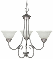 Capital Lighting 3223MN-220 Hometown Matte Nickel Mini Lighting Chandelier
