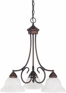 Capital Lighting 3224BB-220 Hometown Burnished Bronze Mini Chandelier Lamp