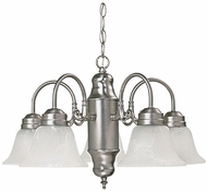 Capital Lighting 3255MN-118 Matte Nickel Mini Lighting Chandelier