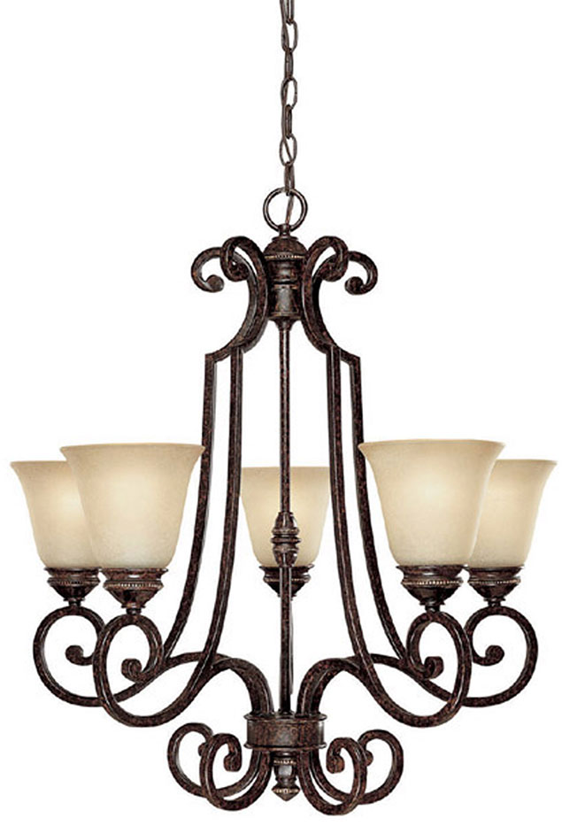 Capital Lighting 3585CB287 Barclay Traditional Chesterfield Brown – Brown Chandelier