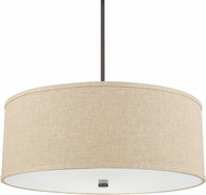 Capital Lighting 3911BB-401 Midtown Burnished Bronze Drum Drop Ceiling Light Fixture
