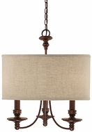 Capital Lighting 3913BB-452 Midtown Burnished Bronze Mini Chandelier Light