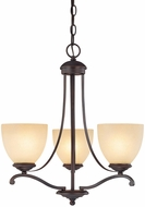 Capital Lighting 3944BB-201 Chapman Burnished Bronze Mini Ceiling Chandelier