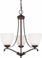 Capital Lighting 3944BB-202 Chapman Burnished Bronze Mini Hanging Chandelier