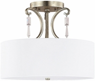Capital Lighting 4467WG-555-CR Simone Winter Gold Semi-Flush Ceiling Lighting Fixture