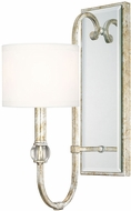 Capital Lighting 613311SG-654 Charleston Silver and Gold Leaf Sconce Lighting