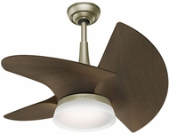 Casablanca 59138 Orchid Modern Pewter Revival LED Interior / Exterior 30  Walnut Ceiling Fan