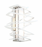 Corbett 185-11 Tantrum Contemporary White Finish 11.25  Tall LED Wall Sconce