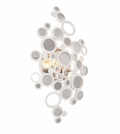Corbett 187-12 Fathom Modern White Finish 11.5  Wide LED Sconce Lighting