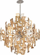 Corbett 208-412 Media Contemporary Polished Stainless Steel Extra Large Drop Ceiling Light Fixture
