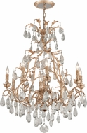 Corbett 210-010 Vivaldi Contemporary Venetian Leaf Chandelier Light