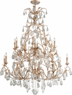 Corbett 210-026 Vivaldi Contemporary Venetian Leaf Lighting Chandelier