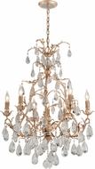 Corbett 210-07 Vivaldi Contemporary Venetian Leaf Chandelier Light