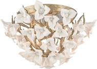 Corbett 211-34 Lily Contemporary Enchanted Silver Leaf Ceiling Light Fixture