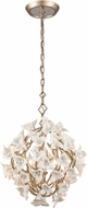 Corbett 211-44 Lily Modern Enchanted Silver Leaf Small Hanging Light