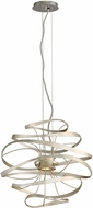 Corbett 213-41 Calligraphy Modern Silver Leaf LED Small Drop Ceiling Lighting