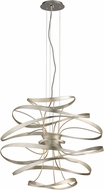 Corbett 213-42 Calligraphy Contemporary Silver Leaf LED Medium Ceiling Light Pendant