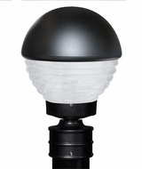 Costaluz 306157-POST-FR 3061 Series Contemporary Black Frosted Outdoor Post Light