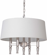 Craftmade 44624-PLN Ella Polished Nickel Drum Ceiling Light Pendant