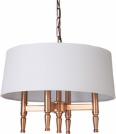 Craftmade 44624-SB Ella Satin Brass Drum Ceiling Pendant Light