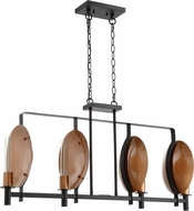 Craftmade 46574-MBKSCP Candela Modern Matte Black / Satin Copper Kitchen Island Light Fixture