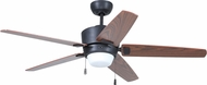 Craftmade ATA52ABZ5 Atara Contemporary Aged Bronze Brushed Fluorescent Indoor 52  Ceiling Fan