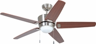 Craftmade ATA52BNK5 Atara Modern Brushed Polished Nickel Fluorescent Indoor 52  Home Ceiling Fan