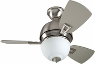 Craftmade DA30SS3 Dane Contemporary Stainless Steel Halogen Indoor 30  Ceiling Fan