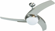 Craftmade JU54SS3 Juna Contemporary Stainless Steel Halogen Indoor 54  Home Ceiling Fan
