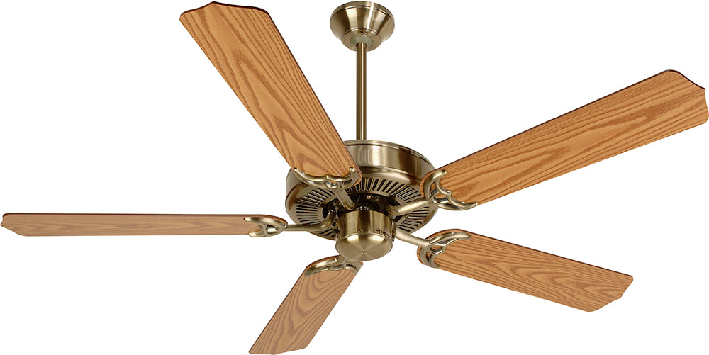 Craftmade K10620 Pro Builder Antique Brass Indoor 52 Ceiling Fan CFT