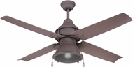 Craftmade PAR52RI4 Port Arbor Nautical Rustic Iron Fluorescent Exterior 52  Ceiling Fan