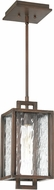 Craftmade Z9801-12 Cubic Contemporary Aged Bronze Brushed Outdoor Small Hanging Light Fixture