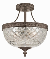 Crystorama 118-10-EB English Bronze Flush Mount Lighting