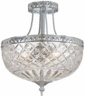 Crystorama 118-12-CH Polished Chrome Flush Mount Light Fixture