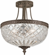 Crystorama 118-12-EB English Bronze Flush Mount Lighting Fixture