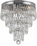 Crystorama 125-CH Chloe Polished Chrome Flush Mount Ceiling Light Fixture