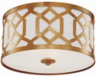 Crystorama 2263-AG Jennings Aged Brass Ceiling Light Fixture