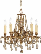 Crystorama 2805-OB-GTS Novella Olde Brass Mini Chandelier Light