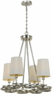 Crystorama 284-SA Graham Antique Silver Mini Chandelier Lamp