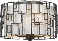 Crystorama 324-RS Lattice Modern Raw Steel Overhead Lighting