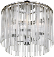 Crystorama 394-CH-CEILING Bleecker Contemporary Chrome Flush Mount Light Fixture