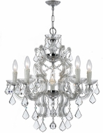 Crystorama 4335-CH-CL-MWP Maria Theresa Polished Chrome Mini Lighting Chandelier