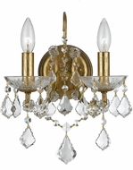 Crystorama 4452-GA-CL-MWP Filmore Antique Gold Wall Lighting Fixture