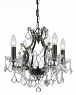 Crystorama 4454-VZ-CL-MWP Filmore Vibrant Bronze Mini Chandelier Lighting