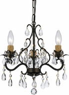 Crystorama 4534-EB Paris Market English Bronze Mini Ceiling Chandelier