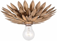 Crystorama 500-GA-CEILING Broche Antique Gold Overhead Light Fixture