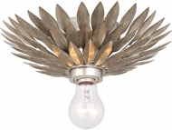 Crystorama 500-SA-CEILING Broche Antique Silver Overhead Lighting Fixture