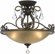 Crystorama 5010-EB-CL-MWP Ashton English Bronze Ceiling Lighting