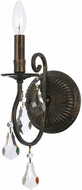 Crystorama 5011-EB-CL-MWP Ashton English Bronze Wall Sconce